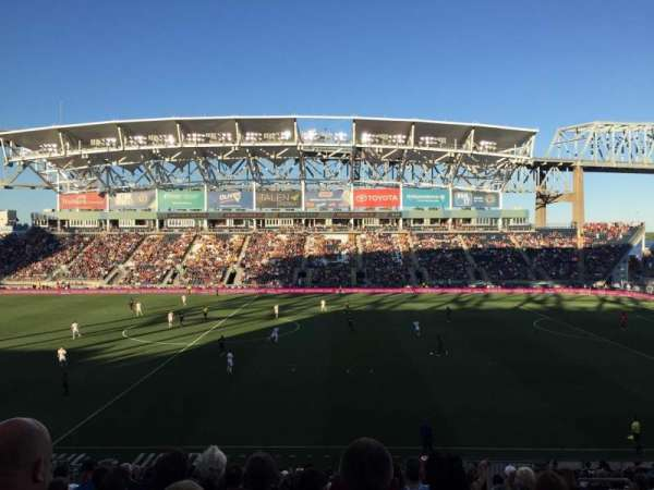 Talen Energy Stadium, Abschnitt: 106, Reihe: Z, Platz: 6