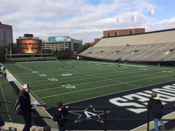 Vanderbilt Stadium, Bereich: I, Reihe: 5, Platz: 5