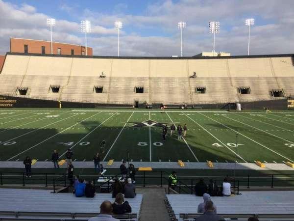 Vanderbilt Stadium, Bereich: D, Reihe: 18, Platz: 7