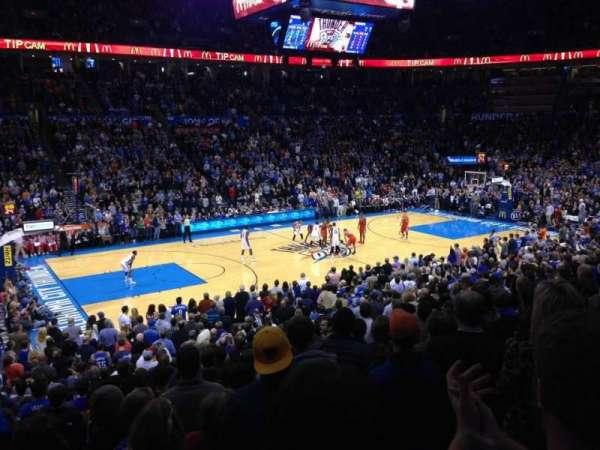 Chesapeake Energy Arena, Abschnitt: 107, Reihe: S, Platz: 15