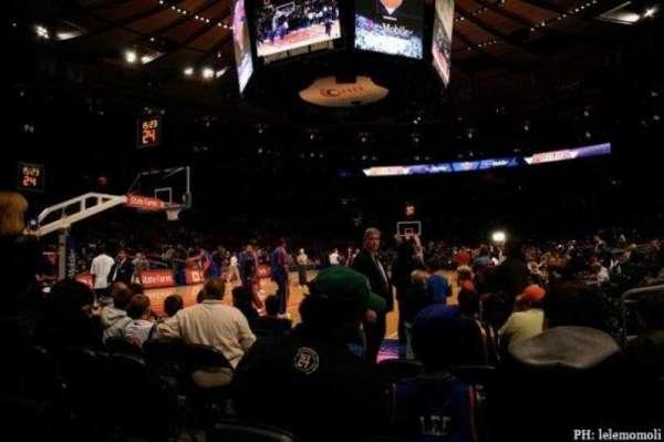 Madison Square Garden, Abschnitt: 10, Reihe: F, Platz: 3