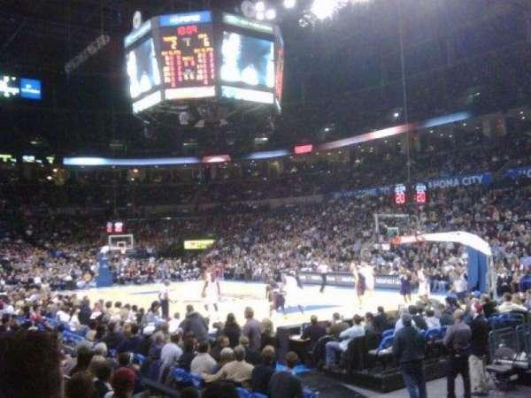 Chesapeake Energy Arena, Abschnitt: 103, Reihe: G, Platz: 4