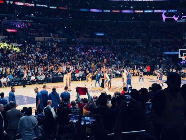 Staples Center, Abschnitt: 103, Reihe: 11, Platz: 7