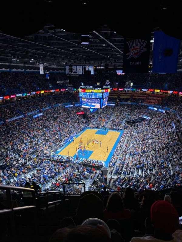 Chesapeake Energy Arena, Abschnitt: 314, Reihe: P, Platz: 25