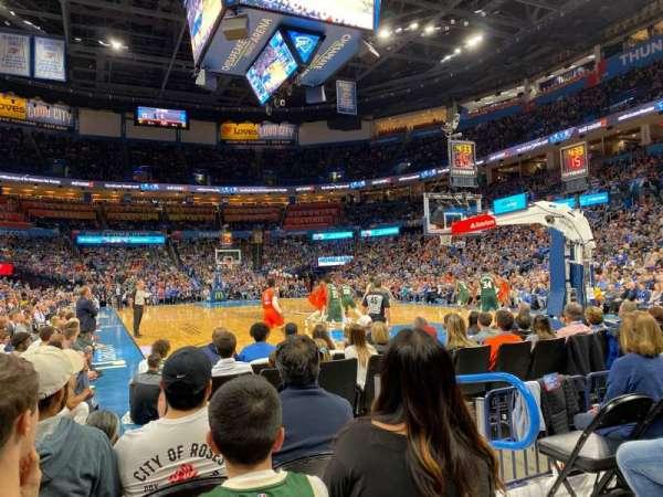 Chesapeake Energy Arena, Abschnitt: 112, Reihe: DD, Platz: 4