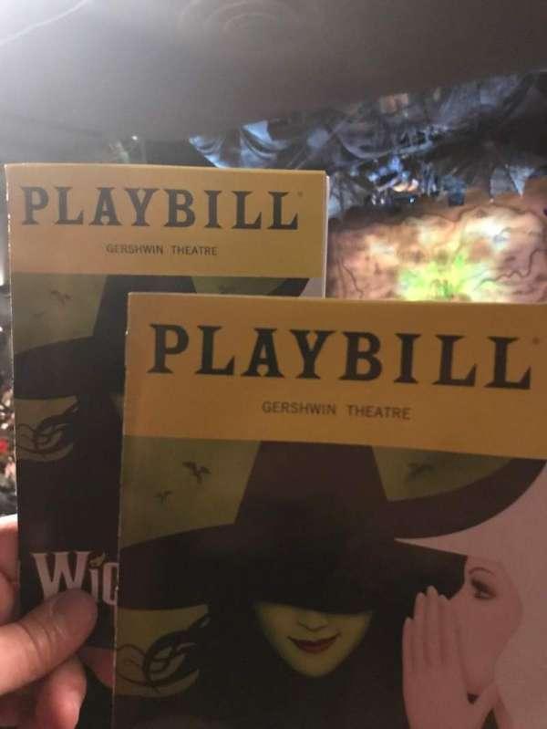 Gershwin Theatre, Abschnitt: Orch, Reihe: W