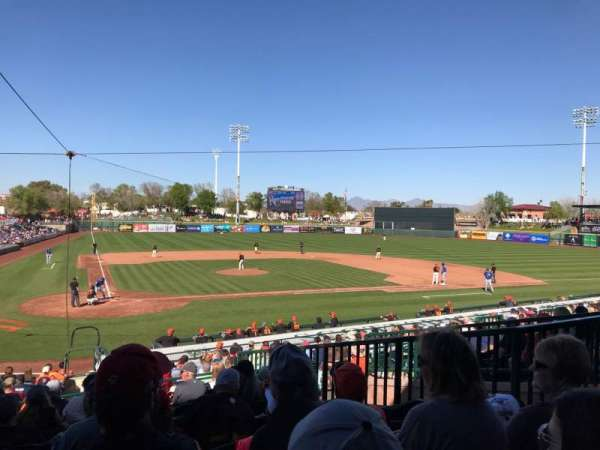 Scottsdale Stadium, Abschnitt: 306, Reihe: 3, Platz: 6