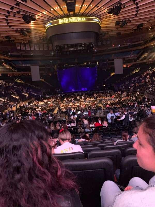 Madison Square Garden, Abschnitt: 102, Reihe: 15, Platz: 11