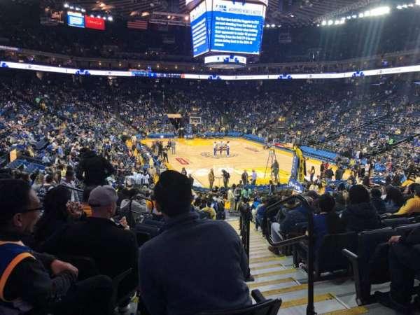 Oakland Arena, Abschnitt: 123, Reihe: 18, Platz: 2