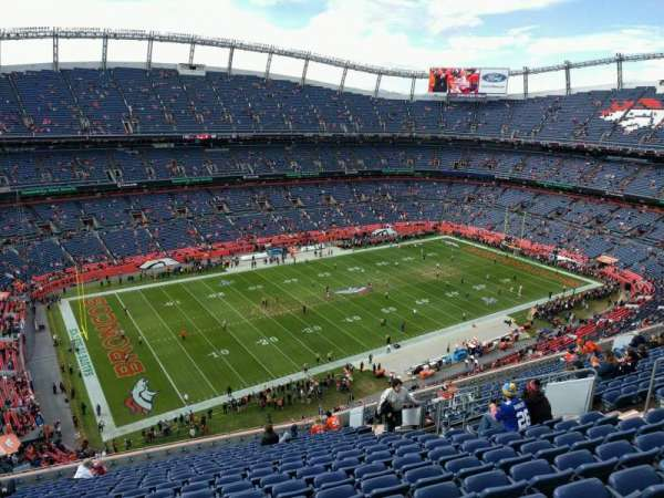 Empower Field at Mile High Stadium, Abschnitt: 539, Reihe: 18, Platz: 14
