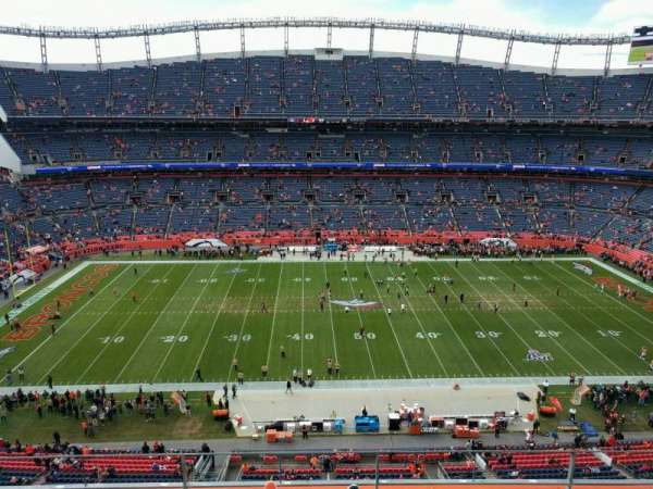 Empower Field at Mile High Stadium, Abschnitt: 535, Reihe: 4, Platz: 7