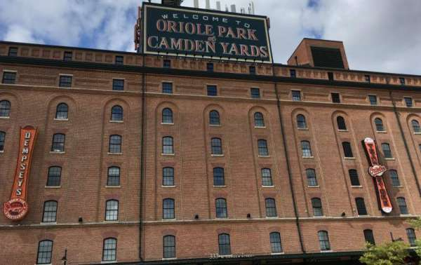 Oriole Park at Camden Yards, Abschnitt: WAREHOUSE, Reihe: EXTERIOR