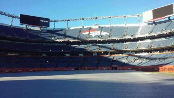 Broncos Stadium at Mile High, Abschnitt: 129, Reihe: 1