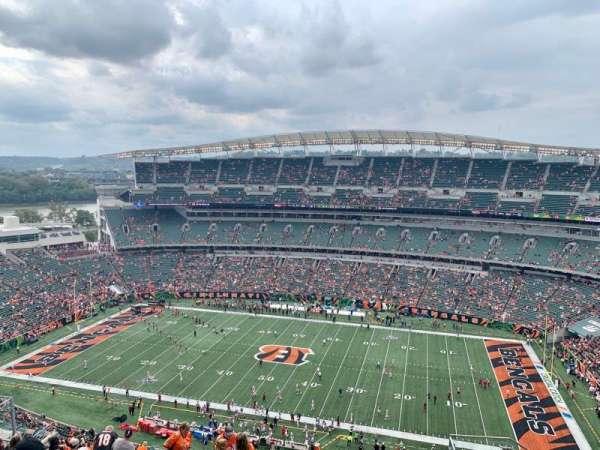 Paul Brown Stadium, Abschnitt: 338, Reihe: 24, Platz: 5