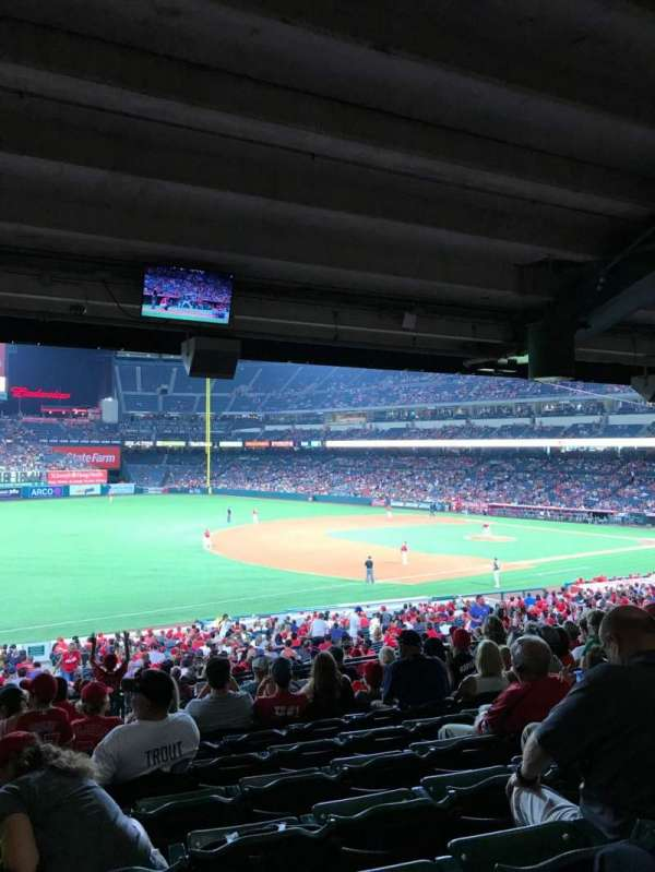 Angel Stadium, Abschnitt: T208, Reihe: K, Platz: 1