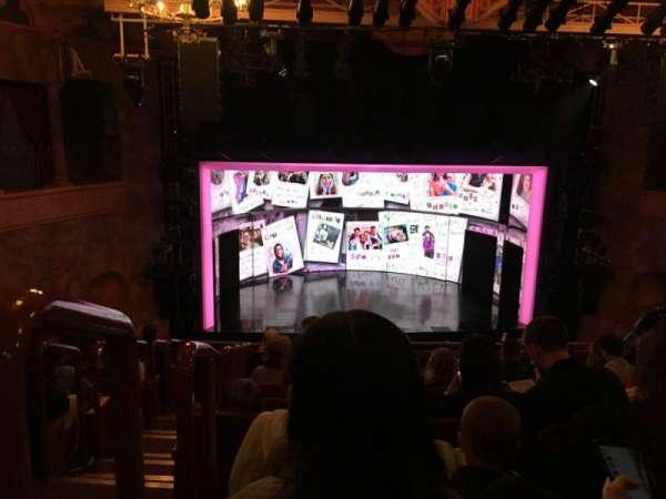 August Wilson Theatre, Abschnitt: Mezzanine, Reihe: J, Platz: 114