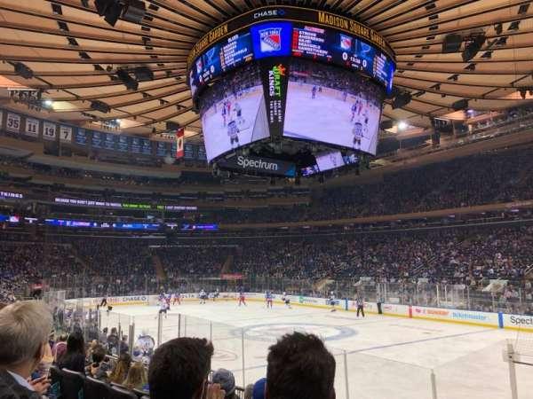 Madison Square Garden, Abschnitt: 109, Reihe: 8, Platz: 16