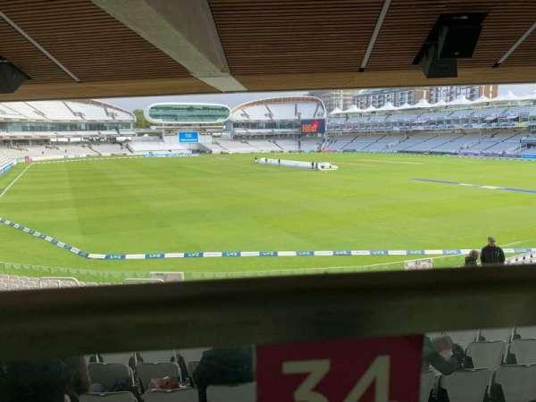 Lord's Cricket Ground, Bereich: Warner Stand, Reihe: Terrace Level 1, Platz: 34