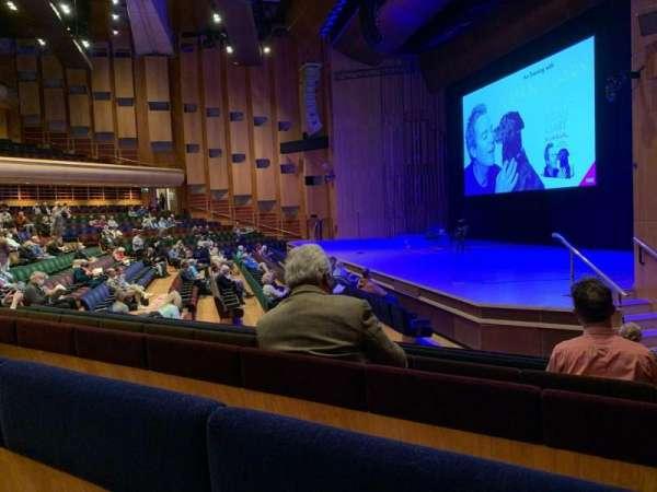 Barbican Theatre, Bereich: Minus 1, Reihe: P, Platz: 1
