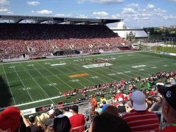 TD Place Stadium, Abschnitt: WW, Reihe: 15, Platz: 3
