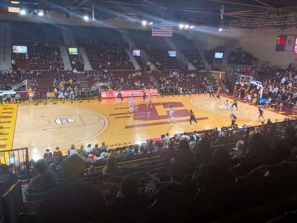 McGuirk Arena, Abschnitt: 106, Reihe: S, Platz: 14