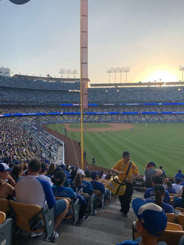 Dodger Stadium, Bereich: 168LG, Reihe: O, Platz: 1