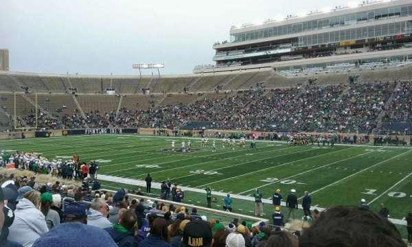 Notre Dame Stadium, Abschnitt: 7, Reihe: 24, Platz: 8