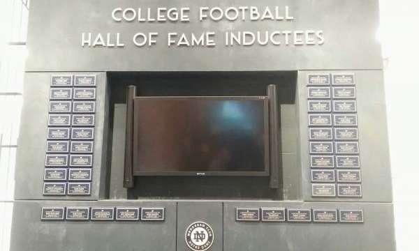 Notre Dame Stadium, Abschnitt: hall of fame