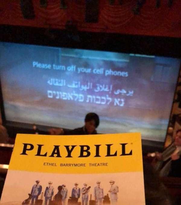 Ethel Barrymore Theatre, Abschnitt: Rear Mezz, Reihe: D, Platz: 2