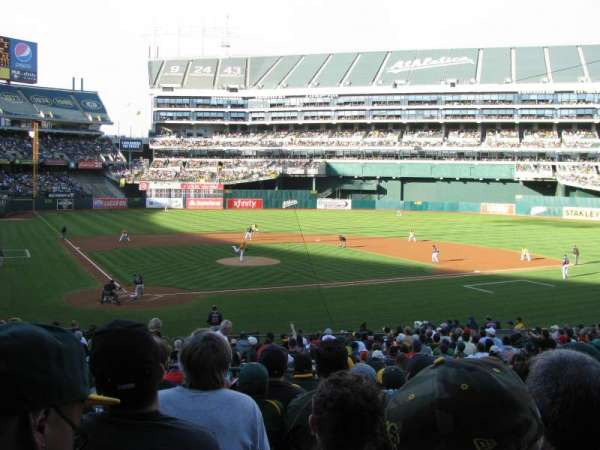 Oakland Alameda Coliseum, Abschnitt: 115, Reihe: 28, Platz: 9