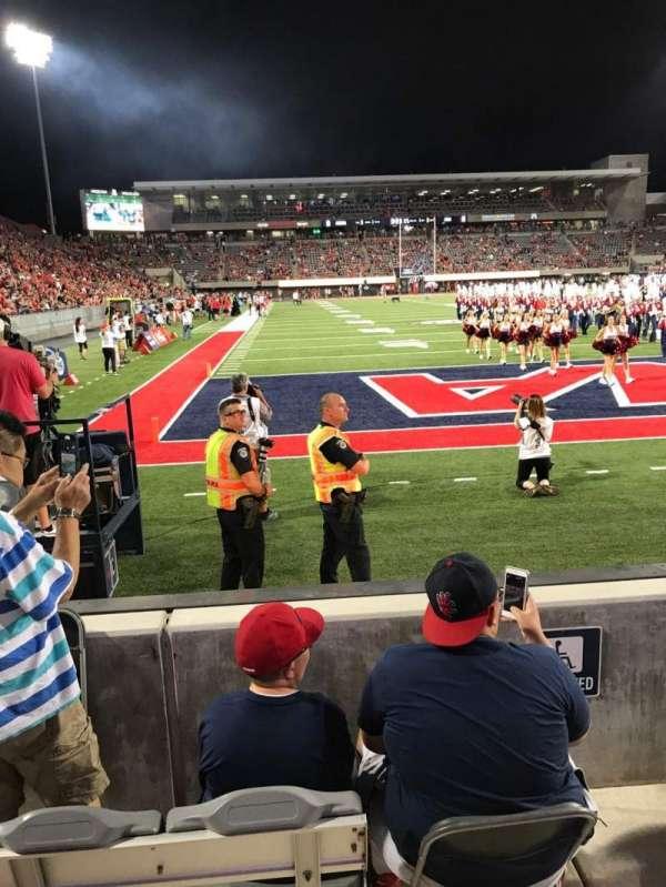 Arizona Stadium, Abschnitt: 13, Reihe: 2, Platz: 27