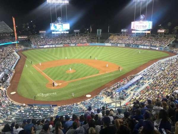 Dodger Stadium, Abschnitt: 4RS, Reihe: L, Platz: 11