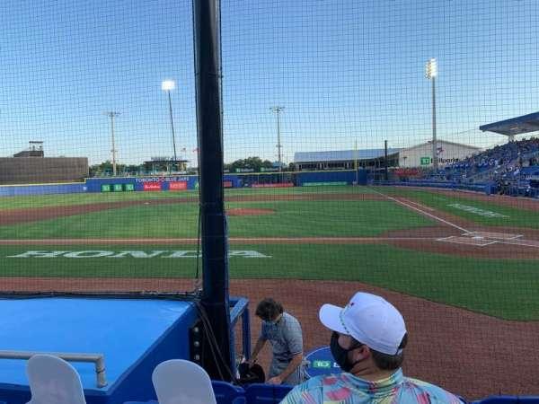 TD Ballpark, Bereich: 109, Reihe: 5, Platz: 9