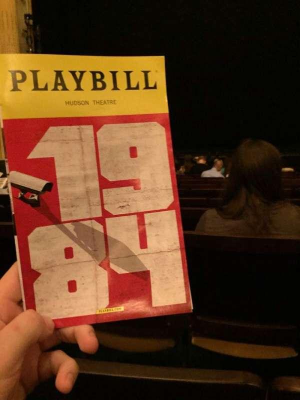 Hudson Theatre, Abschnitt: Orchestra C, Reihe: M, Platz: 110
