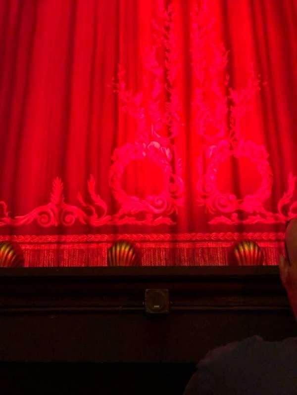 Hudson Theatre, Abschnitt: Orch, Reihe: B, Platz: 107