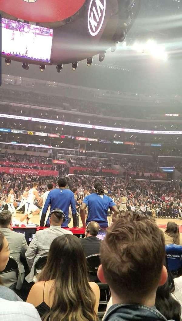 Staples Center, Abschnitt: 101, Reihe: 1, Platz: 9