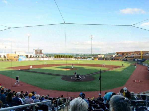 Monongalia County Ballpark, Abschnitt: 105, Reihe: N, Platz: 1