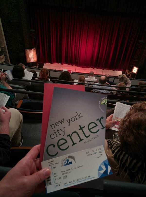 New York City Center, Abschnitt: Balcony, Reihe: F, Platz: 132