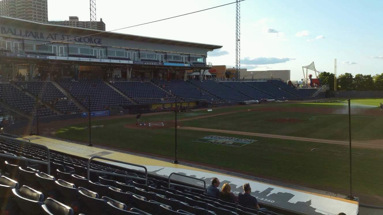 Richmond County Bank Ballpark Abschnitt 13 Reihe P Platz 13