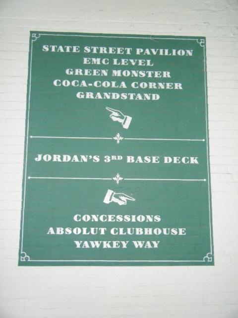 Fenway Park Abschnitt 3rd Base Deck