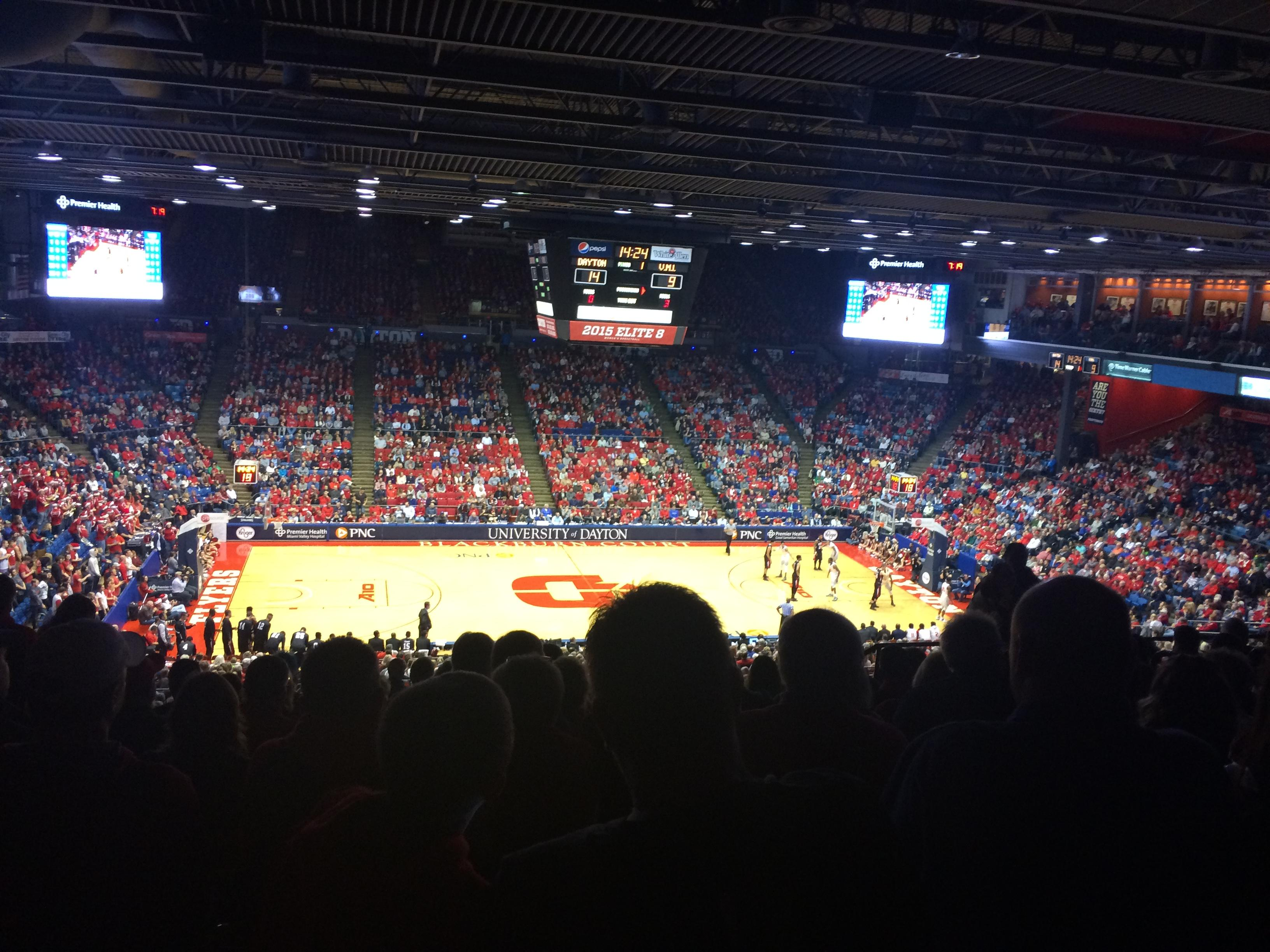 University of Dayton Arena Abschnitt 310 Reihe K Platz 9