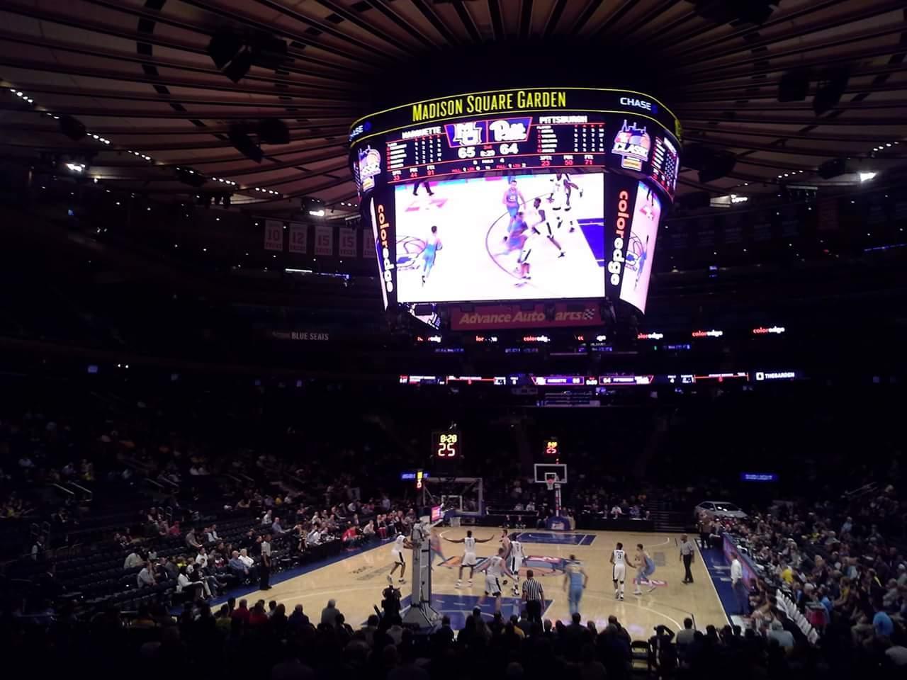 Madison Square Garden Bereich 103 Reihe 10 Platz 1