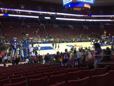 Wells Fargo Center Abschnitt 123