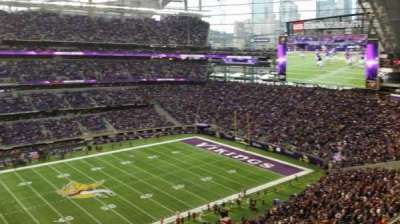 U.S. Bank Stadium, Abschnitt: 314, Reihe: B, Platz: 20