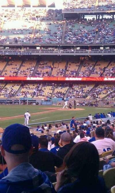 Dodger Stadium, Abschnitt: 43fd, Reihe: s, Platz: 1-2