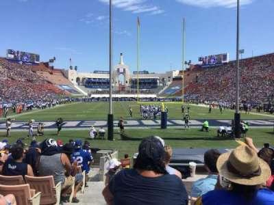 Los Angeles Memorial Coliseum, Abschnitt: 15H, Reihe: 13, Platz: 101