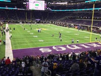 U.S. Bank Stadium, Abschnitt: 101, Reihe: 21, Platz: 1 and 2