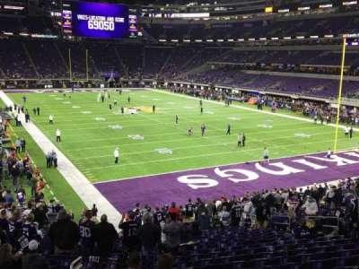 U.S. Bank Stadium, Abschnitt: 101, Reihe: 25, Platz: 25