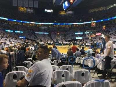 Chesapeake Energy Arena, Abschnitt: 112, Reihe: JJ, Platz: 3