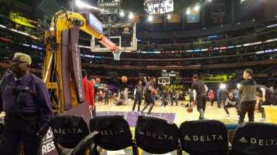 Staples Center, Abschnitt: 115, Reihe: 1, Platz: 4